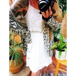 White crotchet flowy mini dress 🍁